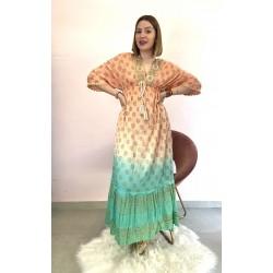 Vestido bicolor Indira